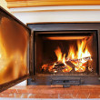 Foto Stock: Open fireplace