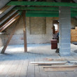 Attic construction - Stock Photo