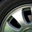 Stock Photo: Aluminum wheel and tire.