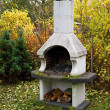 Foto Stock: Garden fireplace