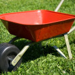 Stock Photo: Red handbarrow