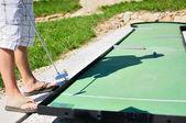 игра мини-гольф — Стоковое фото