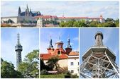Prague collage — Stock Photo