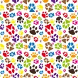 Animal paw pattern — Stock Vector