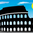 Stock Vector: Rome Coliseum