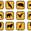 Stock Vector: Animal icons.