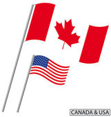 Canada and USA — Stock Vector