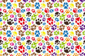 Animal paw pattern — Stockvektor