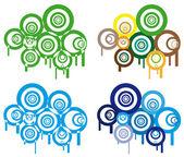 Retro circles. — Stock Vector