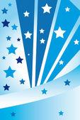 Abstract blue stars — Stockvektor