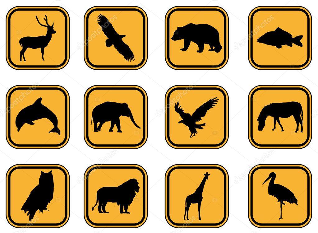 动物图标 — 图库矢量图片 #7897577