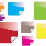 pegatinas de color — Vector de stock