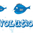 Fish evolution — Stock Vector