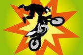 Motocross biker — Stock Vector