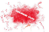 Red grunge — Stockvector