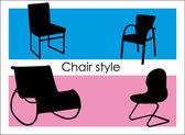 Design chair — Stock Vector