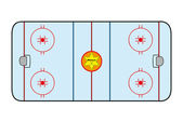 Ice hockey field — Vector de stock