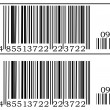 Two barcode — Stock Vector