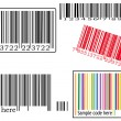 Various barcodes — Stock Vector
