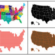 Mosaic with maps of USA — Stockvectorbeeld