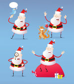 Santa's new year and christmas icon — Vector de stock