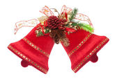 Christmas bells isolated on white — Stock Photo