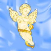 Golden Angel — Stock Vector