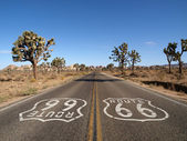 Route 66 with Joshua Trees — Stock Photo