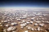 Decorative Clouds at 30,000 feet. — Stock Photo
