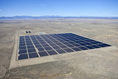Desert Solar Aerial — Stock Photo