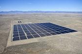 Desert Solar Aerial — Stock Photo