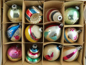 Christmas Ornament Box — Stock Photo