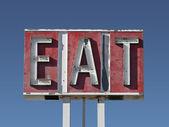 Eat Sign Ruin — Stock Photo