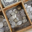 Stock Photo: Vintage Coin Drawer