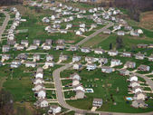Newly Built Eastern US Suburbia Aerial — Stock Photo