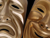 Comedy and Tragedy Masks — Stock Photo