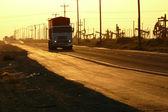 Ropné pole dálnice — Stock fotografie