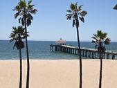 曼哈顿海滩码头加州 — 图库照片