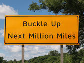 Buckle Up Sign — Stock Photo