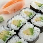 Avocado Roll Sushi — Stock Photo