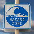 Tsunami Warning Sign — Stock Photo