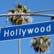 Hollywood Blvd Sign - Stok fotoraf