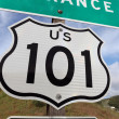 Royalty-Free Stock Photo: Freeway Entrance Sign US 101