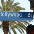 Hollywood Blvd Street Sign — Stock Photo #7949207