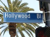 Hollywood Blvd Street Sign — Stock Photo
