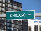 Segno di chicago — Foto Stock