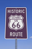 Rt 66 California Sign — Stock Photo