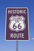 Rt 66 калифорнии знак — Стоковое фото