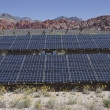 Stock Photo: Large solar array on US federal parkland.