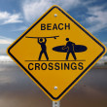 Beach Crossings Malibu — Stock Photo